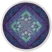 Celtic Avant Garde Round Beach Towel