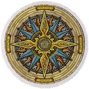 Celtic Compass Round Beach Towel