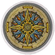 Celtic Compass Round Beach Towel