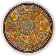 Celtic Crescents Round Beach Towel