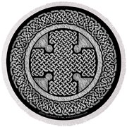 Celtic Cross Round Beach Towel