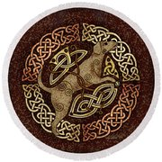 Celtic Dog Round Beach Towel