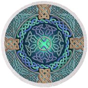 Celtic Eye Of The World Round Beach Towel