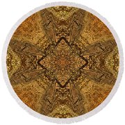 Celtic Mandala Abstract Round Beach Towel