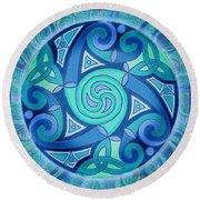 Celtic Planet Round Beach Towel