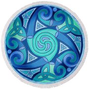 Celtic Planet Round Beach Towel