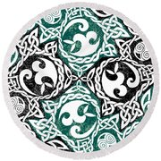 Celtic Puzzle Square Round Beach Towel