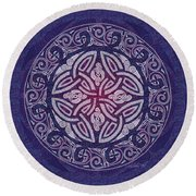 Celtic Shield Round Beach Towel