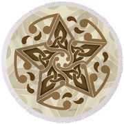 Celtic Star Round Beach Towel