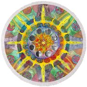 Celtic Stargate Round Beach Towel