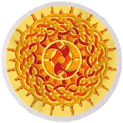 Celtic Sun Round Beach Towel
