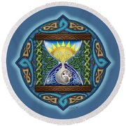 Celtic Sun Moon Hourglass Round Beach Towel