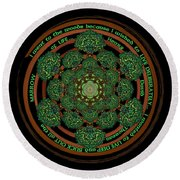 Celtic Tree Of Life Mandala Round Beach Towel