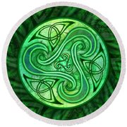 Celtic Triskele Round Beach Towel