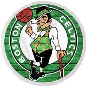 Celtics Barn Door Round Beach Towel