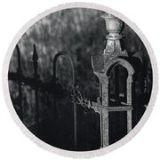 Cemetery  Fence Round Beach Towel