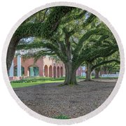 Round Beach Towel featuring the photograph Centennial Oaks by Gregory Daley  PPSA