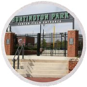 Center Field Entrance At Huntington Park  Round Beach Towel