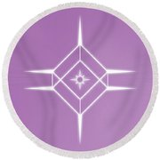 Center Of The Universe Round Beach Towel