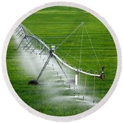 Center Pivot Irrigation Round Beach Towel