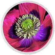 Centerpiece - Poppy 020 Round Beach Towel