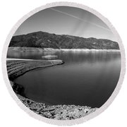 Round Beach Towel featuring the photograph Centimudi In Black And White by Joyce Dickens