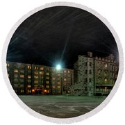 Central Area At Night Round Beach Towel