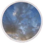 Central Coast Clouds 1 Round Beach Towel by Michael Rock