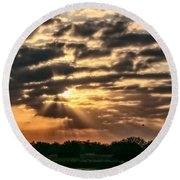 Round Beach Towel featuring the photograph Central Florida Sunrise by Christopher Holmes