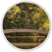 Central Park Bridge Round Beach Towel