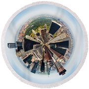 Eye Of New York Round Beach Towel