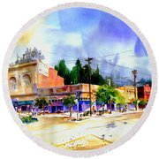 Central Square Auburn Round Beach Towel