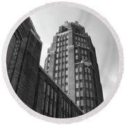 Round Beach Towel featuring the photograph Central Terminal 15142 by Guy Whiteley