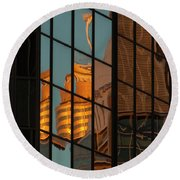 Centrepoint Hiding Round Beach Towel by Werner Padarin