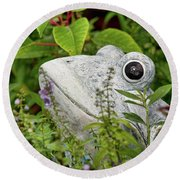 Ceramic Frog Round Beach Towel