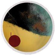 Round Beach Towel featuring the digital art Ceramic Pixels by Nola Lee Kelsey