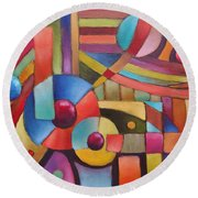 Cerebral Decor # 5 Round Beach Towel