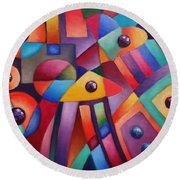 Cerebral Decor # 6 Round Beach Towel
