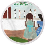 Ceremony In Sisterhood Round Beach Towel