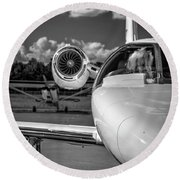 Cessna Citation Round Beach Towel