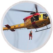 Ch-146 Griffon Of The Canadian Forces Round Beach Towel by Timm Ziegenthaler