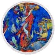 Chagall's Dream Round Beach Towel