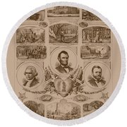 Chain Of Events In American History Round Beach Towel
