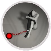 Chained Round Beach Towel