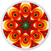 Chained Sunburst Round Beach Towel