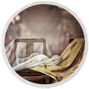 Chair In Veil Round Beach Towel by Craig J Satterlee