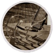 Round Beach Towel featuring the photograph Chair by Samuel M Purvis III
