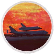 Challenger 1984 Kelly Afb Round Beach Towel