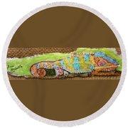 Chameleon Round Beach Towel by Ann Michelle Swadener