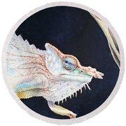 Chameleon Round Beach Towel by Irina Sztukowski
